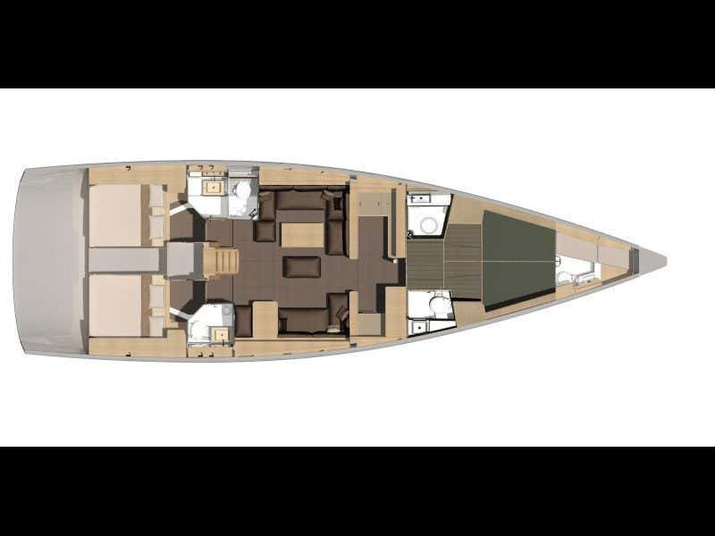 Dufour 560 Grand Large (Fata Frettolosa) Plan image - 7