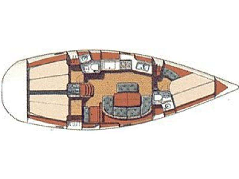 Oceanis 38.1 (Kleio) Plan image - 1