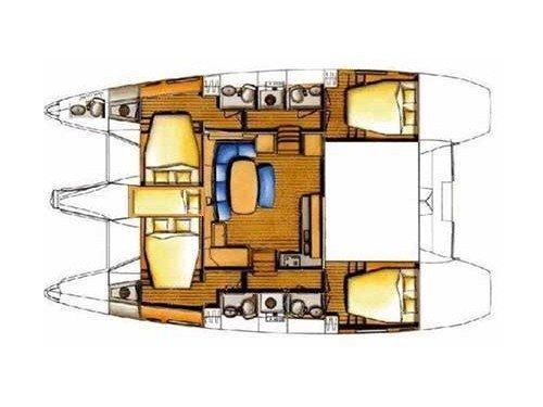 Lagoon 421 (Chirouble) Plan image - 5
