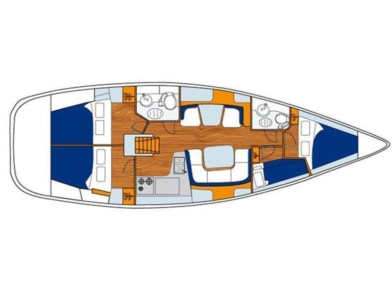 Sun Odyssey 43 (Filomela) Plan image - 6
