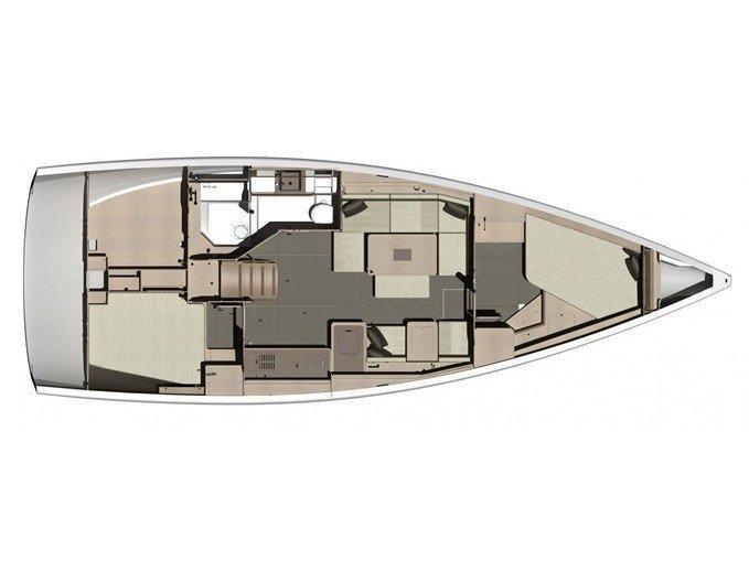 Dufour 412 Grand large (Desiree) Plan image - 1
