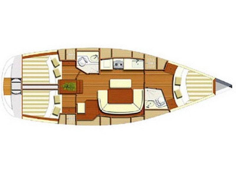 Dufour 385 (Isabella) Plan image - 1