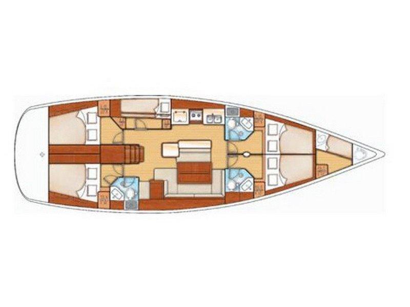Oceanis 50 Family (Ippolity) Plan image - 2