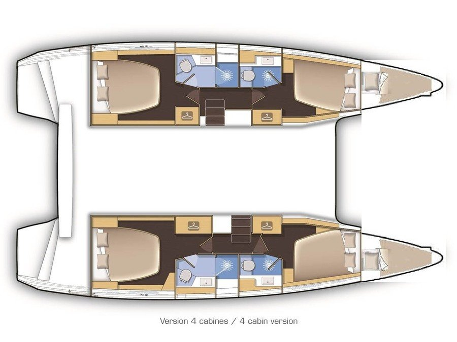 Lagoon 42 (Aura (skippered)) Plan image - 35