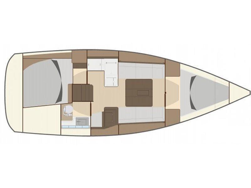 Dufour 335 Grand Large (Tara FB) Plan image - 15