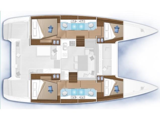Lagoon 40 (Mithra) Plan image - 2