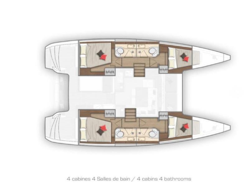 Lagoon 40 (Nathalie) Plan image - 1