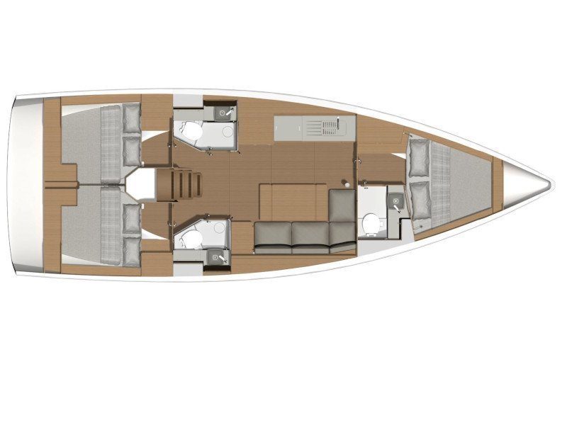 Dufour 390 Grand Large (Parbleu) Plan image - 1