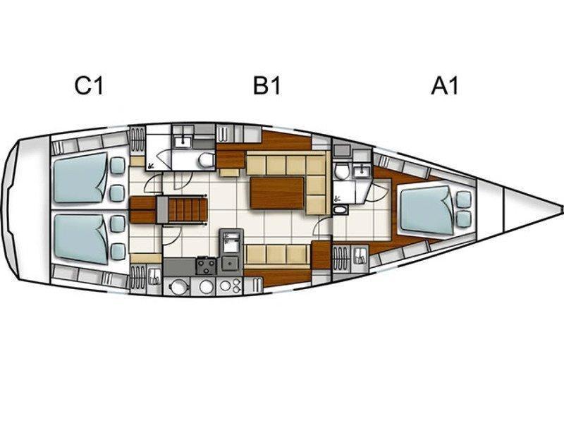 Hanse 470 (Einar) Plan image - 5