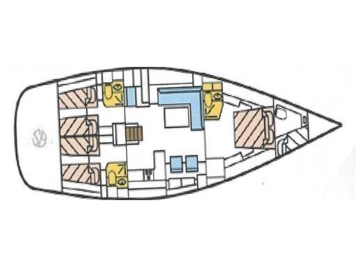Hanse 540e (Ocean Blue) Plan image - 1
