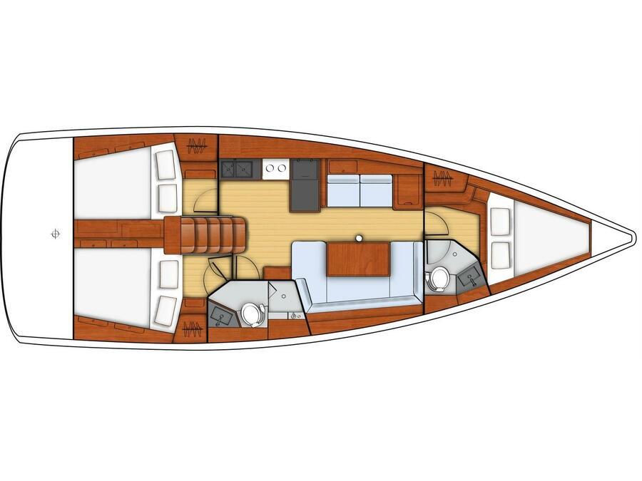 Oceanis 41 (ECSTASEA) Plan image - 1