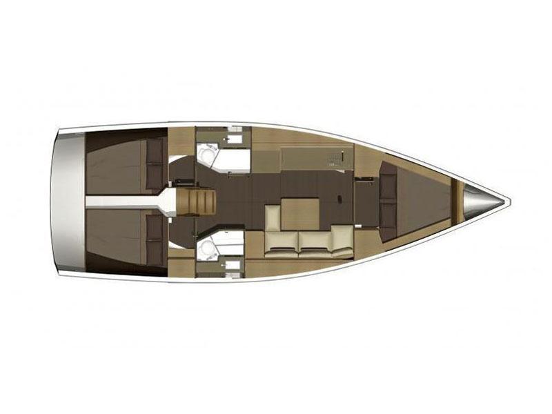 Dufour 382 Grand Large (Dardanus) Plan image - 17