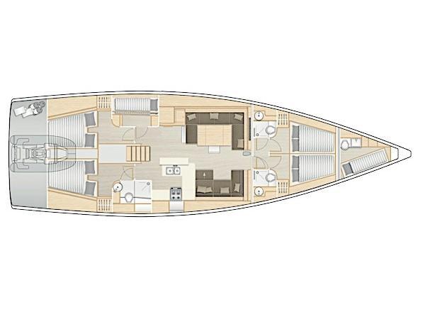 Hanse 588 (White Pearl) Plan image - 47