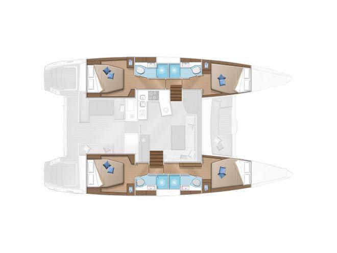 Lagoon 450 Flybridge (Pix) Plan image - 9