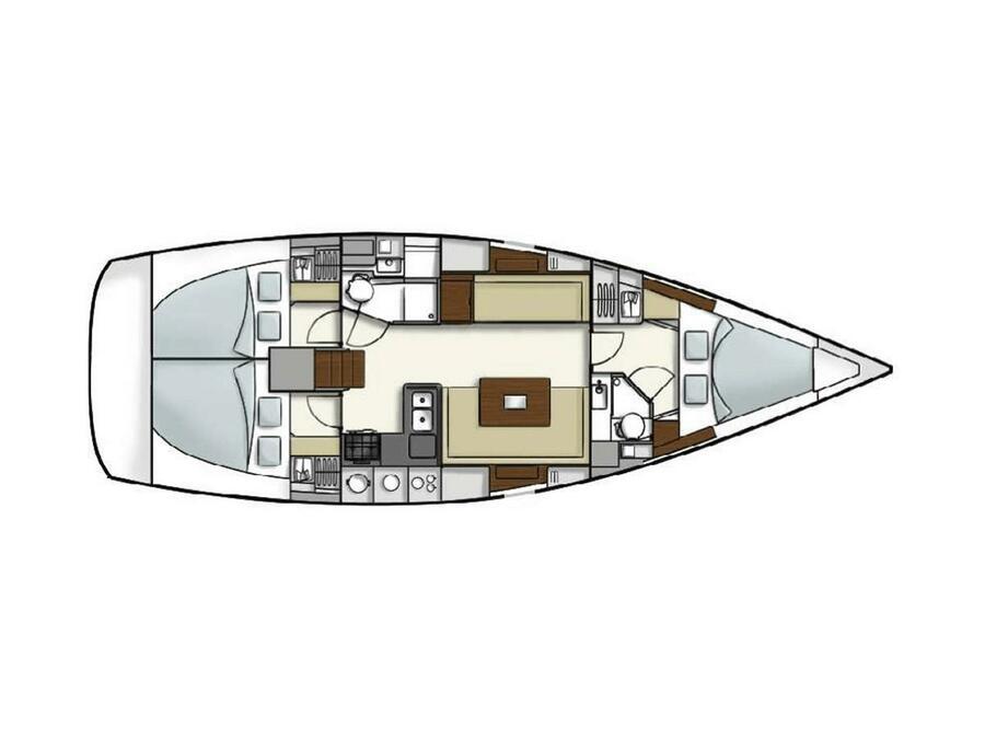Hanse 400e (Axinos) Plan image - 2