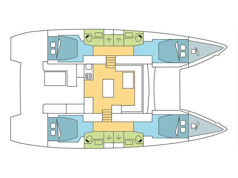 Lagoon 50 F (Amanda of Sweden) Plan image - 4