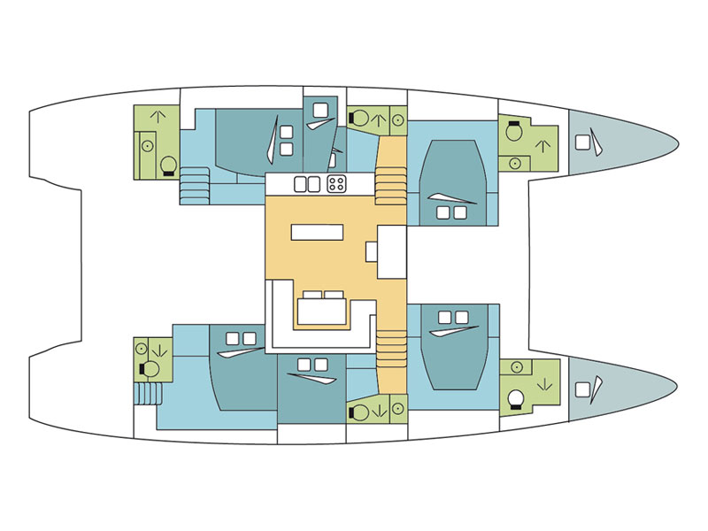 Lagoon 52F (Caracara) Plan image - 2
