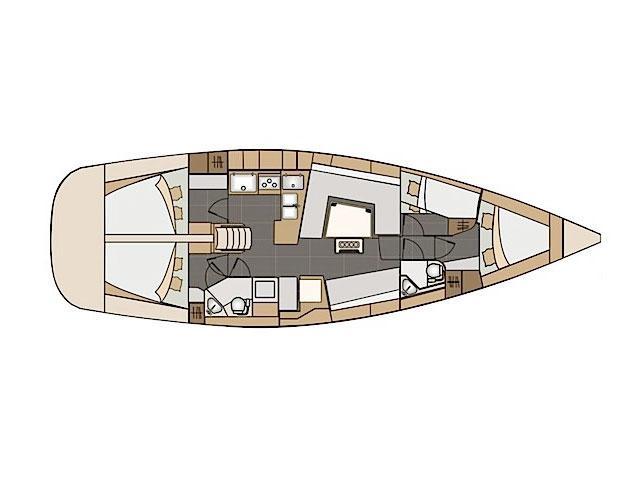 Elan Impression 45 (Monaco) Plan image - 2