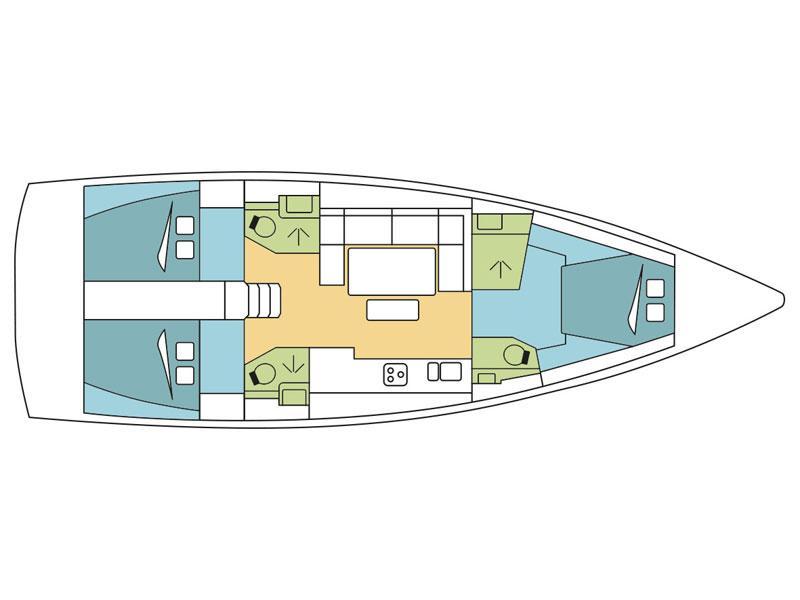 Dufour 460 Grand Large - 3 cab (Beyond I.) Plan image - 1