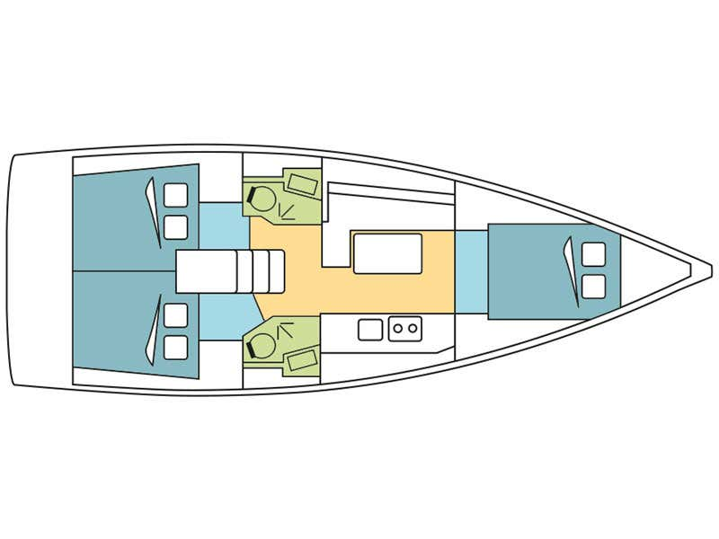 Oceanis 38.1 (Paganini) Plan image - 1