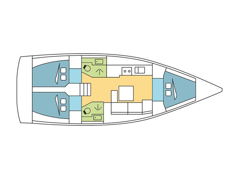 Dufour 382 Grand Large (Seneque) Plan image - 1