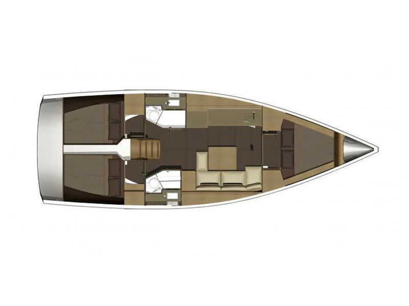 Dufour 382 Grand Large (Amphytrion) Plan image - 2