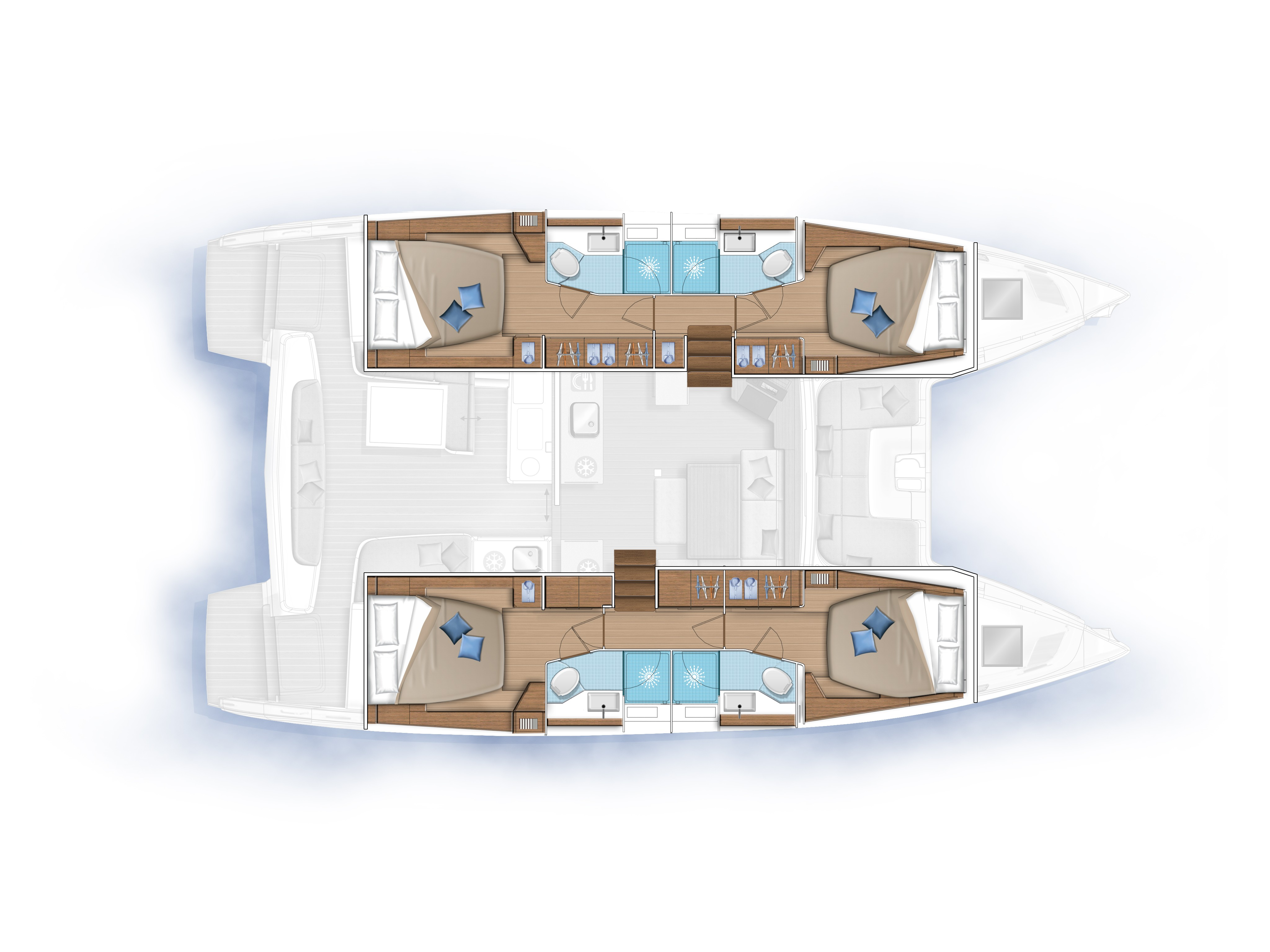 Lagoon 46 (2020) equipped with generator, A/C (sal (QUEEN NIKA powered by GIN HVAR) Plan image - 1