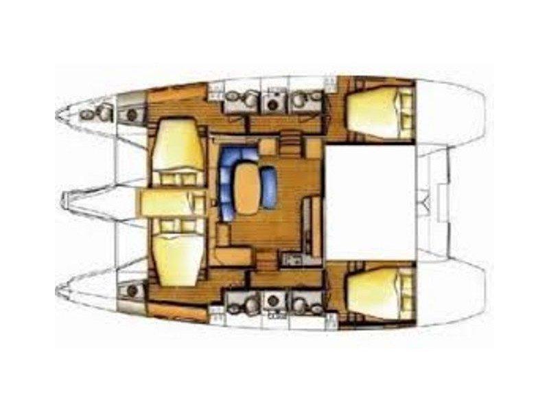 Lagoon 420 (Tropicana) Plan image - 4
