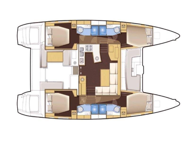 Lagoon 450  Flybridge (Marisol) Plan image - 11