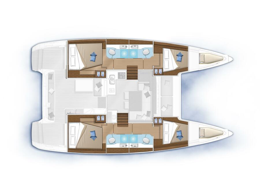 Lagoon 40 (2020) (LIQUID SPIRIT) Plan image - 5