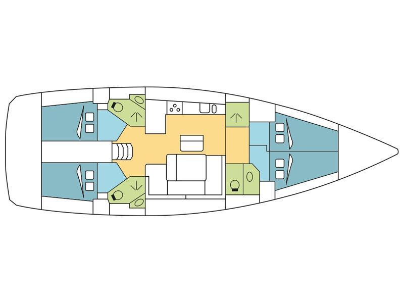 Bavaria Cruiser 46 (Gershwin) Plan image - 6