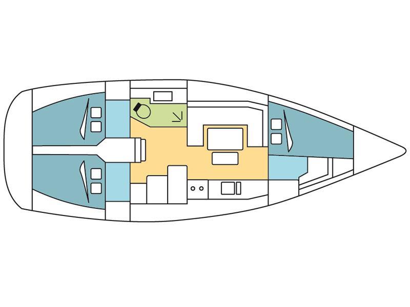 Dufour 380 (Pegase) Plan image - 9