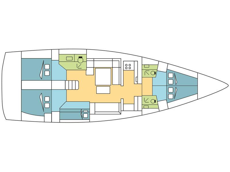Dufour 500 Grand Large (Djamileh) Plan image - 1