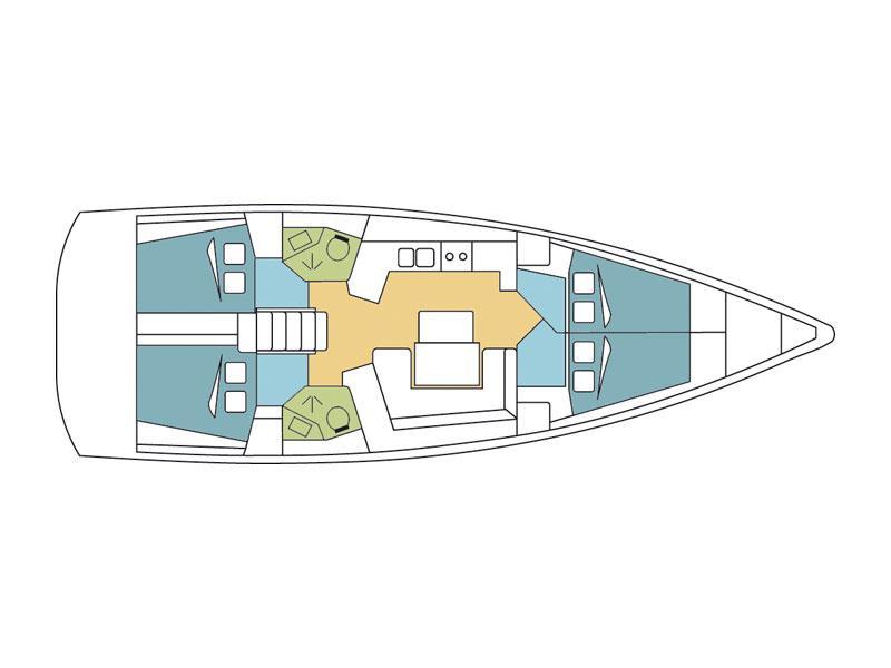 Oceanis 45 (Schubert) Plan image - 2