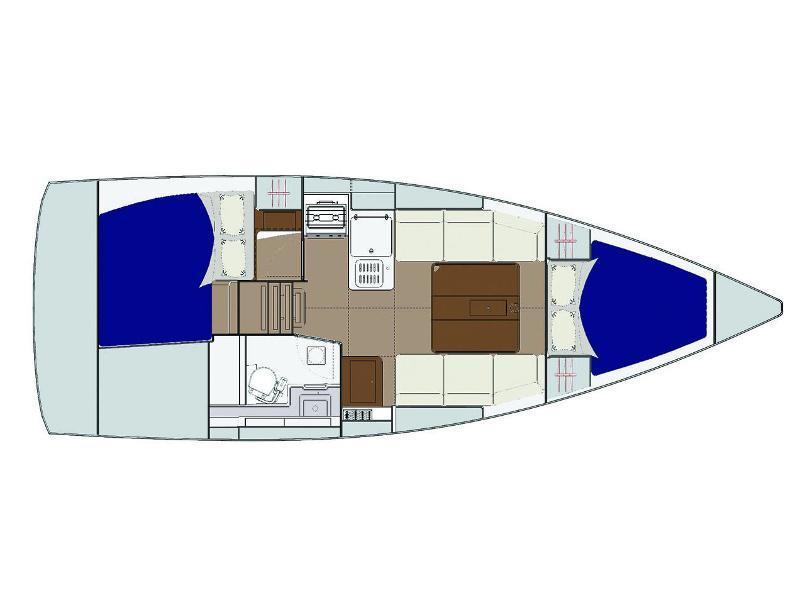 Dufour 310 Grand Large (Union) Plan image - 8