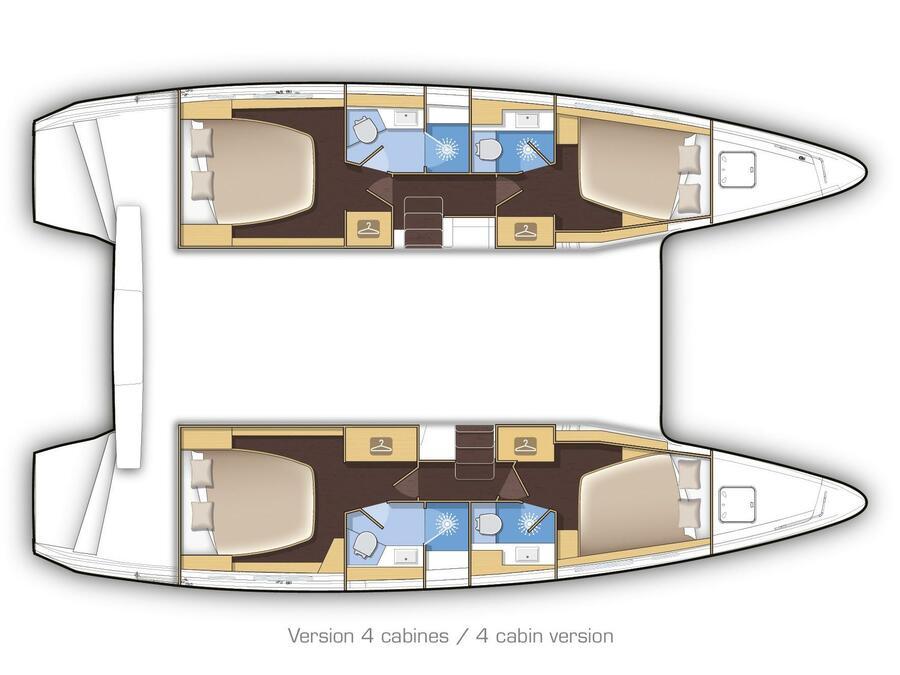 Lagoon 42 2017 - MALA KATE - skippered (MALA KATE - skippered) Plan image - 2