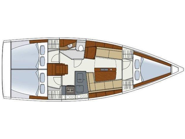 Hanse 345 (H345-14G) Plan image - 2