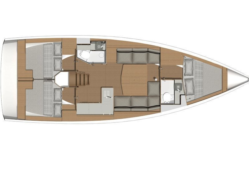 Dufour 390 Grand Large (Emka-fully equipped, white hull) Plan image - 5