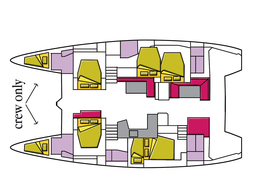 Lagoon 52F - 6 cab (Dugongo II (TOR))  - 11