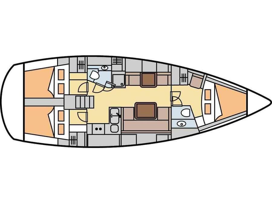 Hanse 400 (F) Plan image - 1