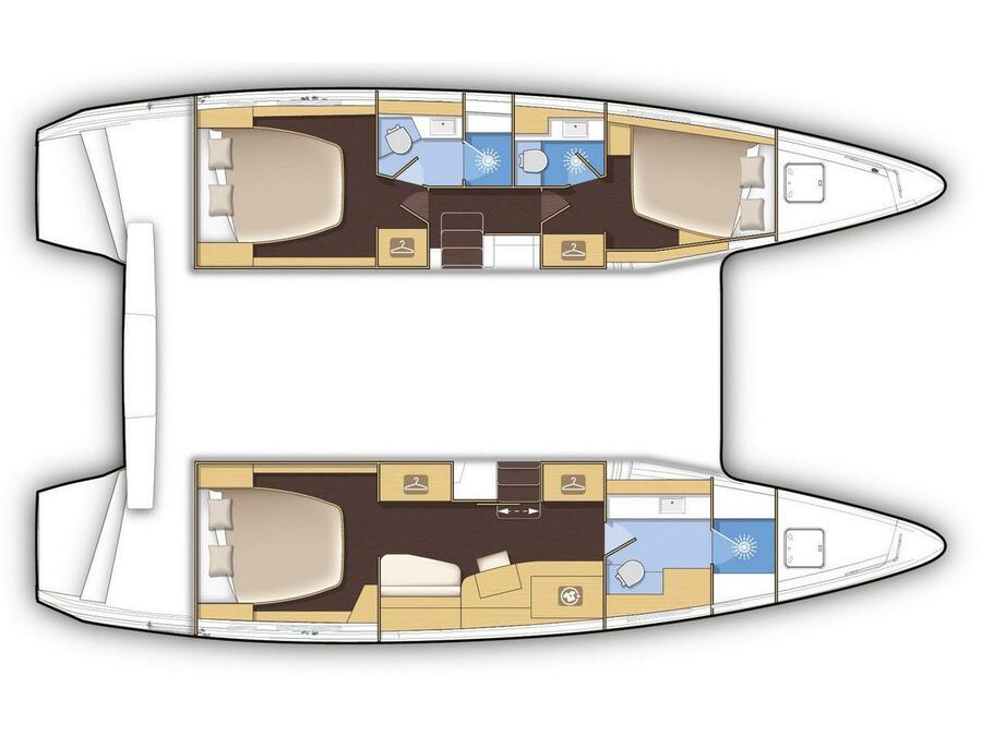 Lagoon 42 -Owner's Version (P&B) Plan image - 4