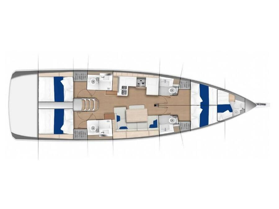 Sun Odyssey 490 (Aria) Plan image - 2