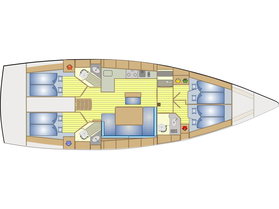 Bavaria  Cruiser 46 (Aurora) Plan image - 7