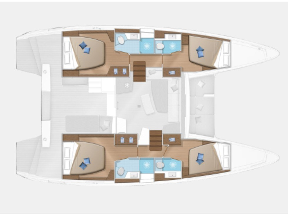 Lagoon 42 (Hunter II) Plan image - 1