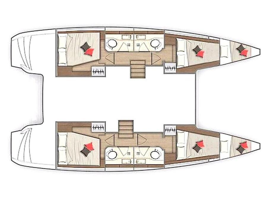 Lagoon 40 (Falcon) Plan image - 1