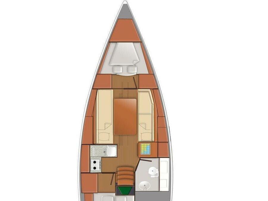 Sun Odyssey 319 (Spider Kiss) Plan image - 7