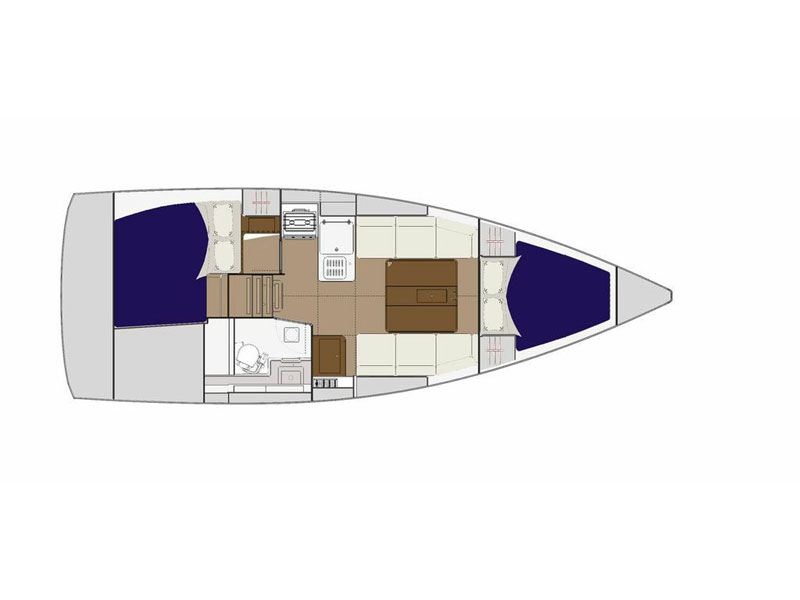 Dufour 310 Grand Large (Inezic) Plan image - 3