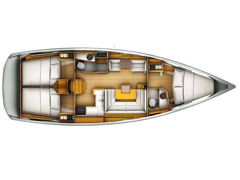 Sun Odyssey 409 (Kamet) Plan image - 5