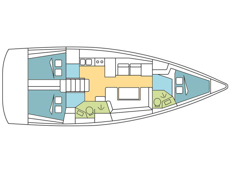 Oceanis 41.1 (Regor) Plan image - 7