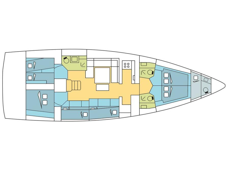 Dufour 530 (Christianna XI) Plan image - 4